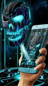 Download Neon Tech Evil Skull 3D Theme 1.1.16 APK