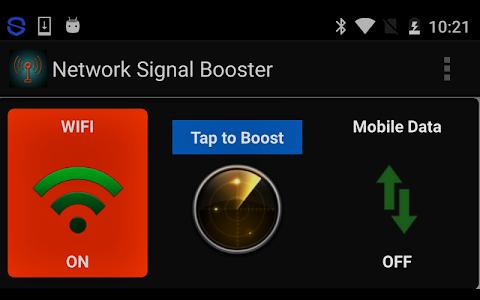 screenshot of Network Signal Booster version 1.0