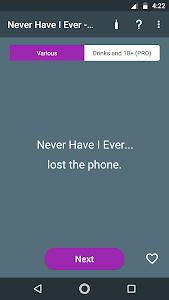 screenshot of Never Have I Ever - Game version 1.0.14