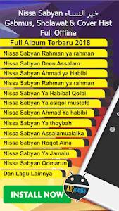 screenshot of Nissa Sabyan Lagu Sholawat Terbaru 2018 version 1.2