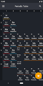 screenshot of Periodic Table 2019 - Chemistry version 0.1.74