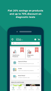 screenshot of PharmEasy - The Healthcare App version 4.7.16