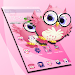 Pink Anime Cute Owl Princess