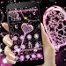 Pink Black Diamond Glitter Hearts Theme