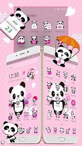 screenshot of Pink Lovely Panda Theme version 1.1.13