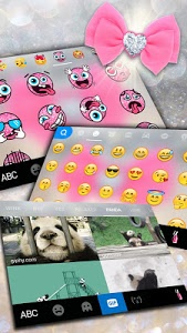 Download Glitter Pink Bow Keyboard 1.0 APK