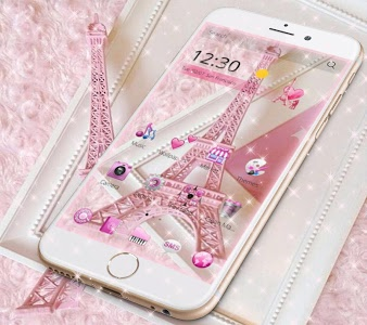 Download Pink Theme Eiffel Tower Love 1.1.4 APK