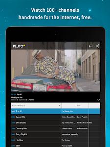 screenshot of Pluto TV version 2.4.9