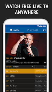 screenshot of Pluto TV version Varies with device