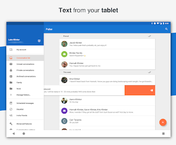 screenshot of Pulse SMS (Phone/Tablet/Web) version 3.1.3.2150