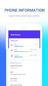 screenshot of RAM Master - Memory Optimizer version 1.5.7.1