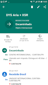 screenshot of Rastreio Correios version 2.0.5