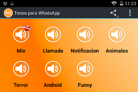 screenshot of Ringtones for WhatsApp version 1.4.5