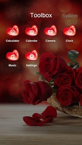Download Red Rose and Heart Best Theme 6.0.2 APK