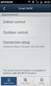 screenshot of SAMSUNG Smart Washer/Dryer version 2.1.32