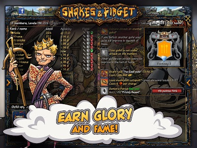 screenshot of Shakes and Fidget version 2.56.23