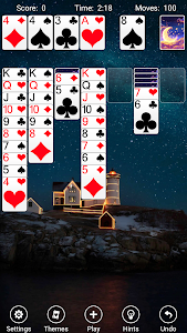 screenshot of Solitaire version 4.10