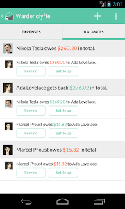 screenshot of Splitwise version 3.6