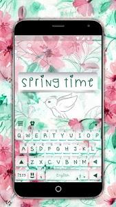 screenshot of Springtime Flowers Keyboard Theme version 2.0