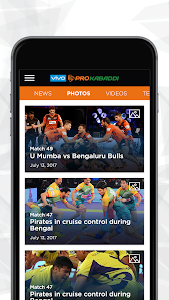 screenshot of VIVO Pro Kabaddi version 1.16