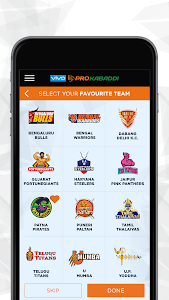 screenshot of VIVO Pro Kabaddi version 1.23