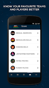 screenshot of Star Sports Pro Kabaddi version 1.8