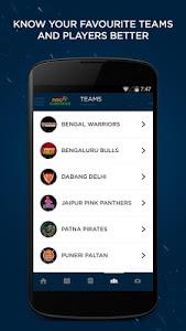 screenshot of Pro Kabaddi version 1.9