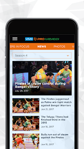 screenshot of VIVO Pro Kabaddi version 1.21
