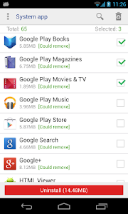 Download System app remover (root needed) 5.3 APK