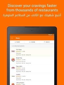 screenshot of Talabat: Food Delivery version Varies with device