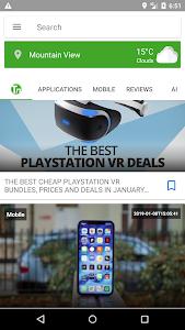 screenshot of Tech News version 1.3