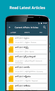 screenshot of Telugu GK & Current Affairs version 2.6