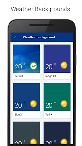 screenshot of Transparent clock & weather version 1.98.02