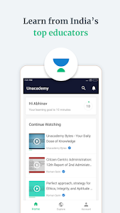 screenshot of Unacademy Learning App version 5.1.07