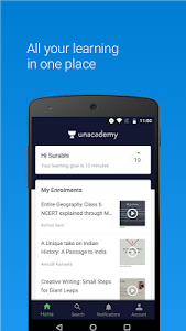 screenshot of Unacademy Learning App version Varies with device