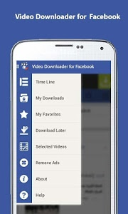 screenshot of Video Downloader for Facebook version 1.8.8