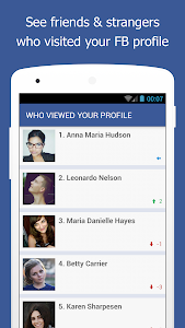 screenshot of Who Viewed My Facebook Profile - Stalkers Visitors version 1.7.1