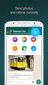 screenshot of WhаtѕApp Meѕѕеngеr version 4.0