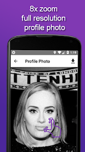 screenshot of insFull - big profile photo picture version 0.9.8.1