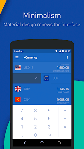 screenshot of xCurrency - Smart Currency version 1.3.3